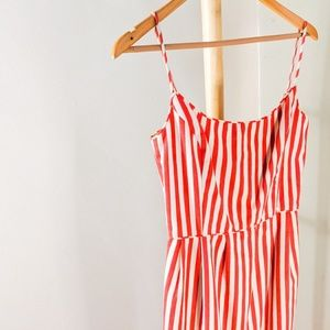 Vintage Anna Sui Red & White Stripe Mini Dress